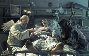 death, angel, anime, gambling, realistic, hospital