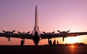 aircraft, sunset, airplane