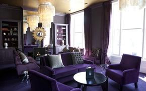 design, interior, purple, style, room
