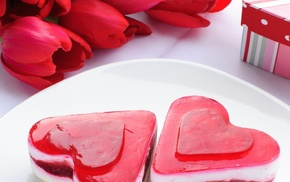 bouquet, gift, tulips, heart