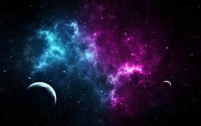 space, planets, art, nebula, stars