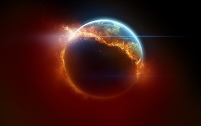 planet, space, element, fire