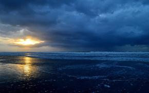 nature, water, sea, Sun, landscape