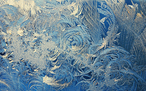 winter, patterns, frost, window, macro