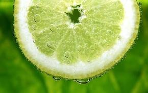 пузырьки, лайм, лимон, цитрус, долька, вкусно