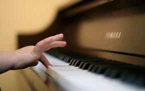 music, piano, hand