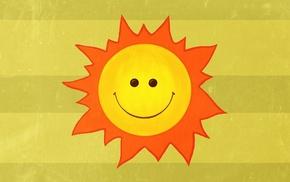 mood, rays, smiling, minimalism, Sun