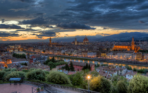 evening, cities, Italy