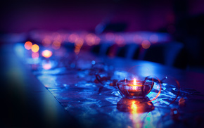 macro, bokeh, candle, lights