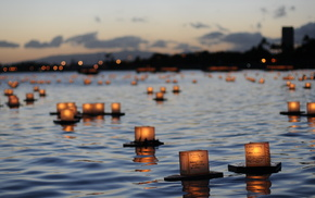 candles, river, stunner