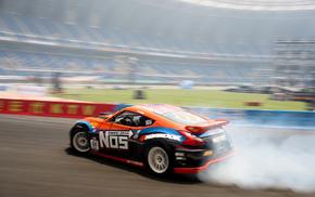 sports, smoke, drift, Nissan