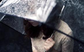 stunner, rain, girl