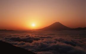 nature, volcano