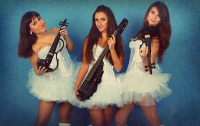 шоу, электроскрипачки, скрипка, девушки, трио, музыка