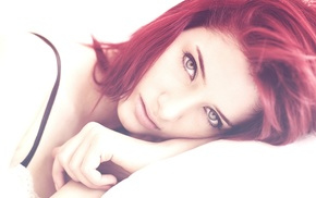 Susan Coffey, redhead, girl, filter, face, model