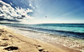 sea, beach, coast, nature