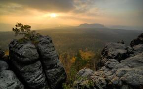 sky, mountain, landscape, sunset, nature