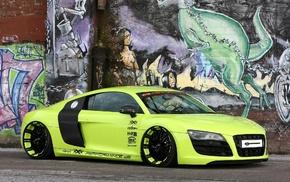 supercar, cars, green, Audi