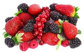 малина, Клубника, ежевика, красная смородина, вкусно, ягоды