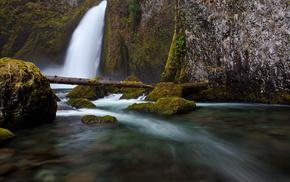 nature, stones, water, rocks, waterfall