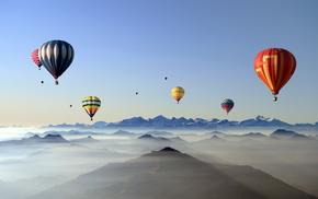 balloon, sky, sports
