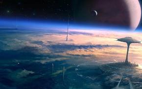 planet, stunner, stars, space