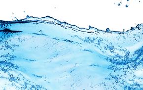 пузыри, красивые, всплеск, капли, белый, water