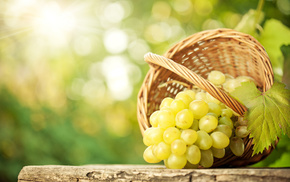 delicious, table, grapes, leaf, bokeh