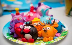macro, toys, stunner, plate