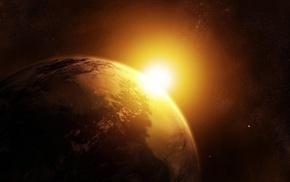 земля, космос, планеты, солнце, звезда