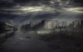 Ukraine, city, night, road, cities