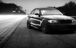black and white, BMW, cars