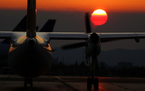 airplane, night, aircraft
