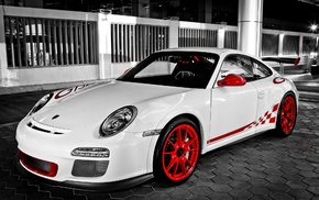 Porsche, cars, white