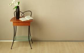 book, vase, flowers, style, interior
