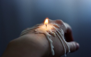 candle, hand, fire, stunner