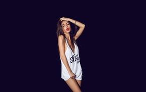 pose, black background, girl, makeup, girls