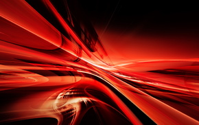 3D, abstraction, lines, red