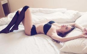 model, girls, underwear, girl, lies