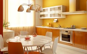 flowers, kitchen, wineglass