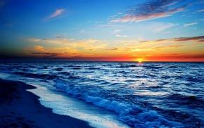 stunner, sunset, sea