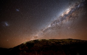 Milky Way, space, stars