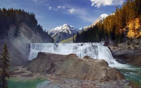 british columbia, wapta falls, Yoho national park, kicking horse river, природа, канада