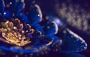 flower, art, 3D, petals, bokeh