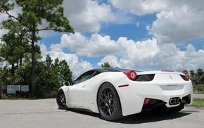 Ferrari, Italy, cars, white