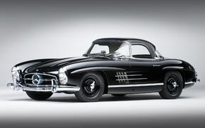 cars, black, Mercedes-Benz