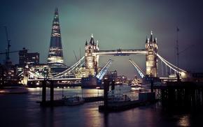 Лондон, тауэрский мост, великобритания, темза, города, англия