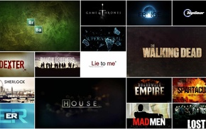 Top Gear, House, E.R., .D., Spartacus, Lost