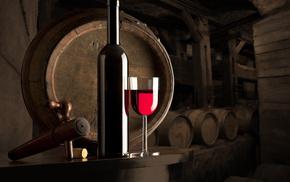 wine, stunner, bottle, wineglass, table