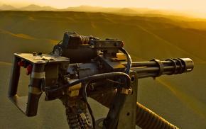 machine gun, helicopter, gun